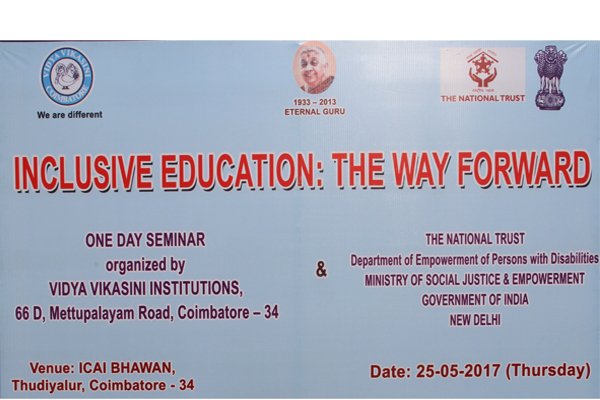 Inclusive Education : The way forward- One day Seminar